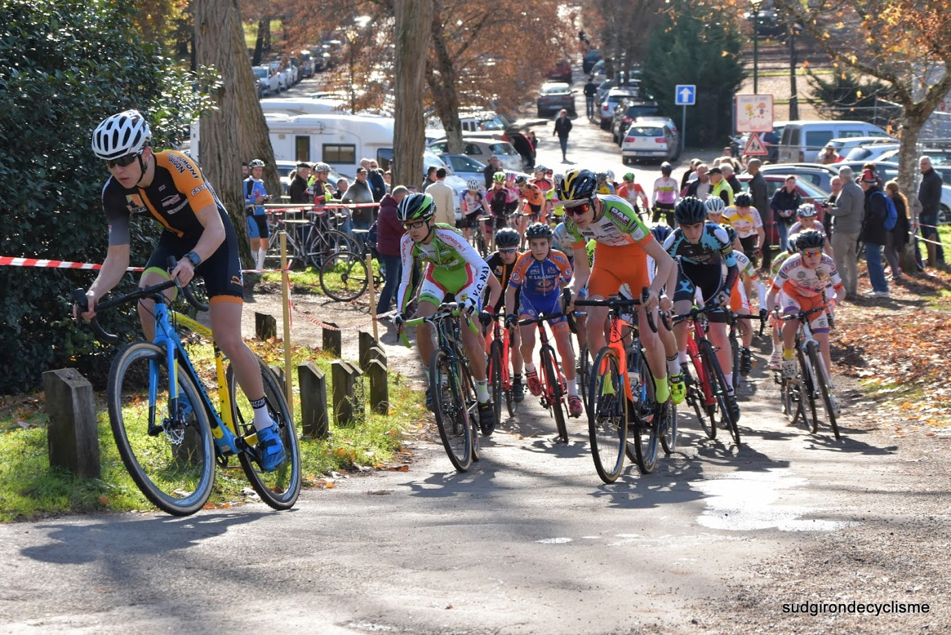 Championnat d'aquitaine cyclo cross cadets juniors dames 2016 007