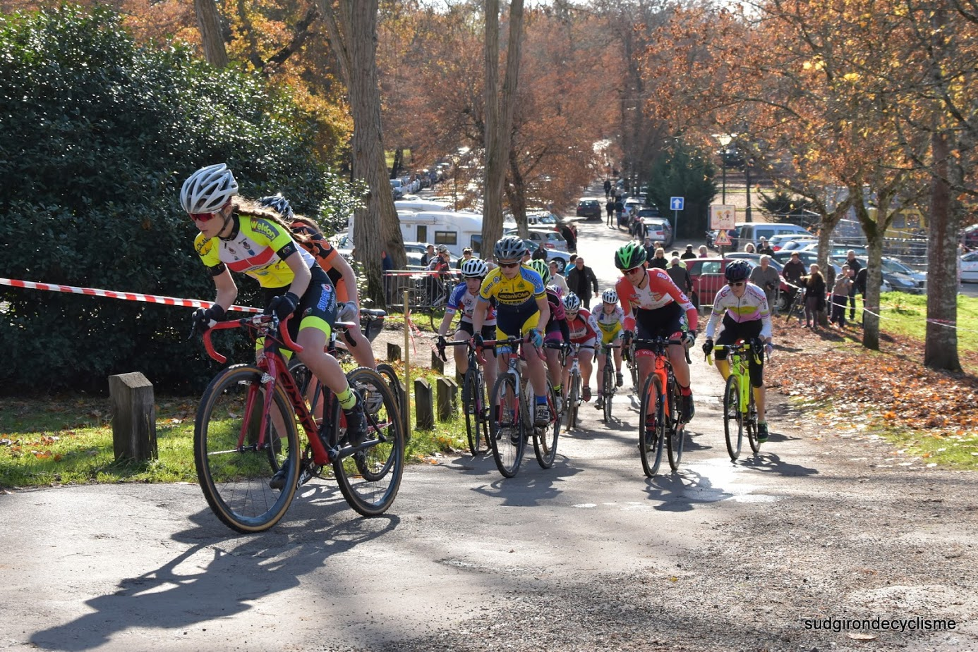 Championnat d'aquitaine cyclo cross cadets juniors dames 2016 009